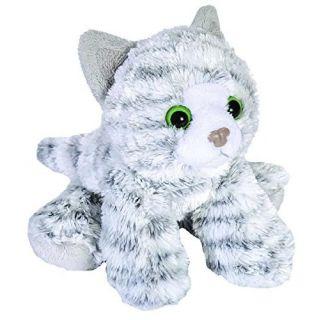 Stuffed Animal - Hug'ems Mini Gray Tabby Cat