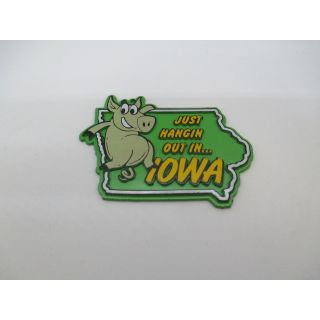 Just Hangin' Out Iowa Magnet (Pig)