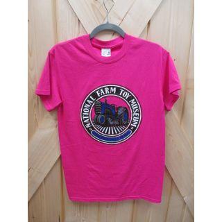 Medium Pink NFTM Circle Logo T-shirt