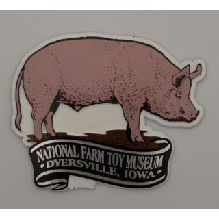 National Farm Toy Museum Pig Magnet