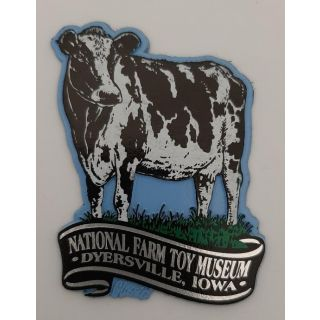 National Farm Toy Museum Cow Magnet