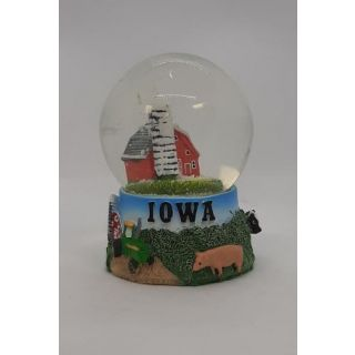 Snow Globe Farm Scene