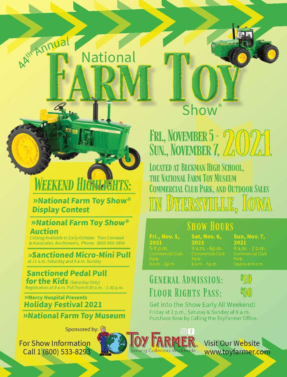 2021 National Farm Toy Show Poster